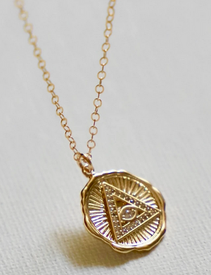 Pyramid Evil Eye Necklace