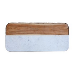 Marble and Wood Cheese Board