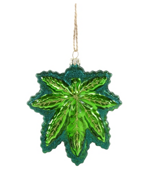 Leaf Glass Ornament