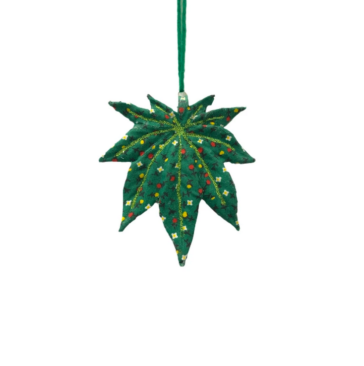 Patchwork Leaf Ornament