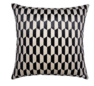Onyx and Ivory Geometric Pillow