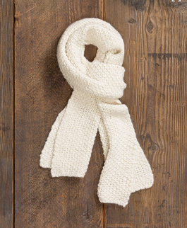 Whistler Scarf, Ivory