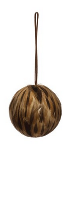 Quail Feather Ornament, Brown