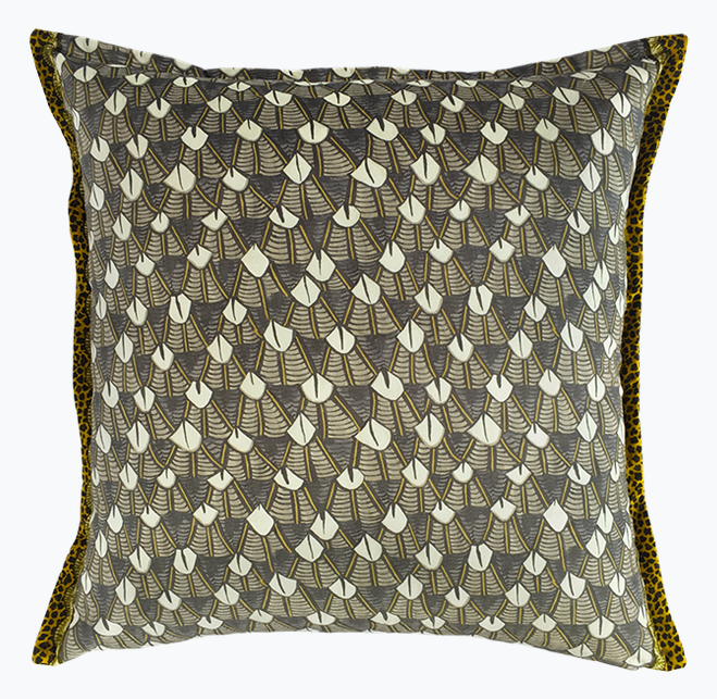 Feather Print Pillow
