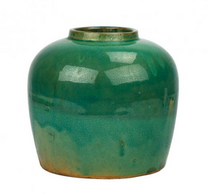 Vintage Sea Green Ginger Jar