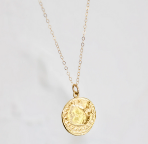 Cable Chain with Coin Pendant
