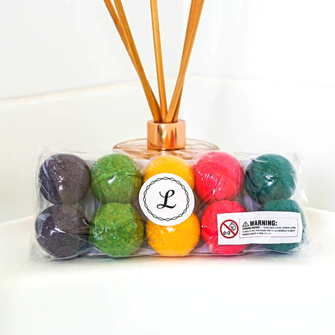 Mini Kids Surprise Bath Bombs - 10 pack (Original & Neon)