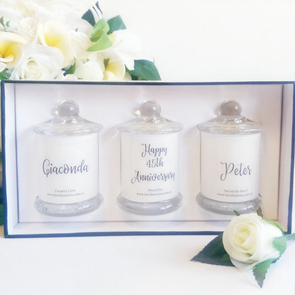 Personalised Small Soy Candle Trio Gift Pack