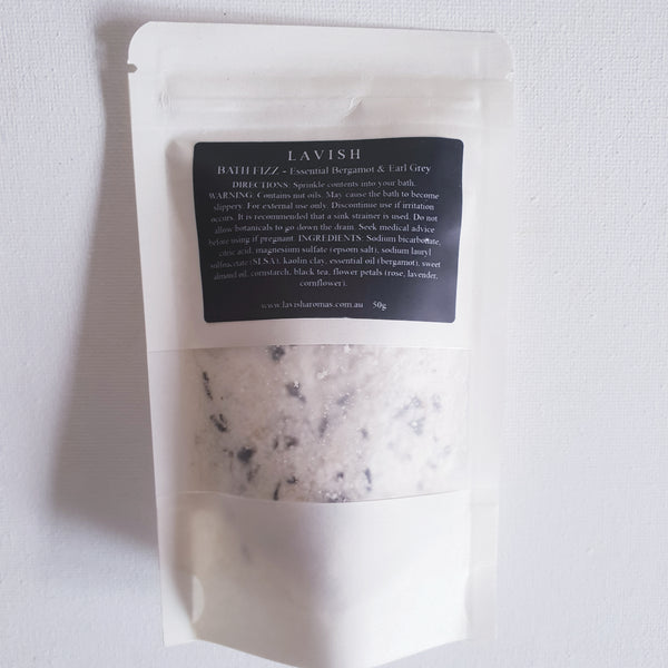 Bath Fizz - Essential Bergamot & Earl Grey 50g