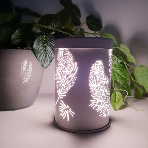 Feather White Electric Warmer