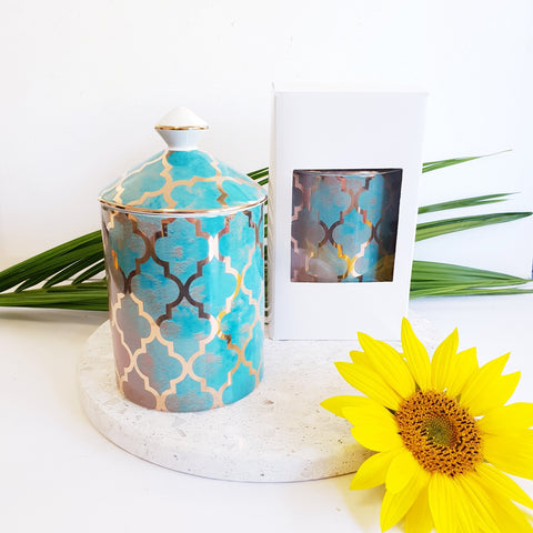 Golden Teal - Luxe Canister Soy Candle