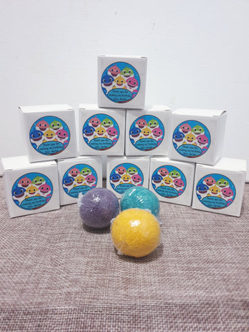 Mini Kids Surprise Bath Bomb Bombonieres/Party Favours x10
