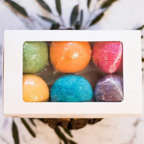 Coloured Bath Bombs - 6 pack