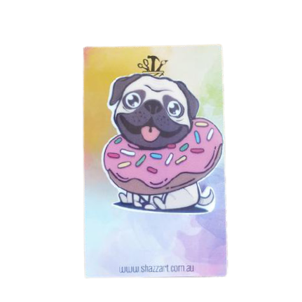 Pug Dog Badge