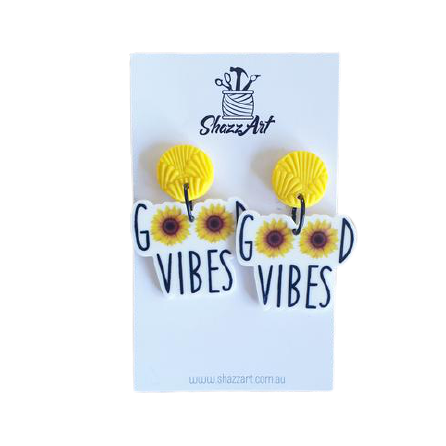 Sunflower Good Vibes Earrings