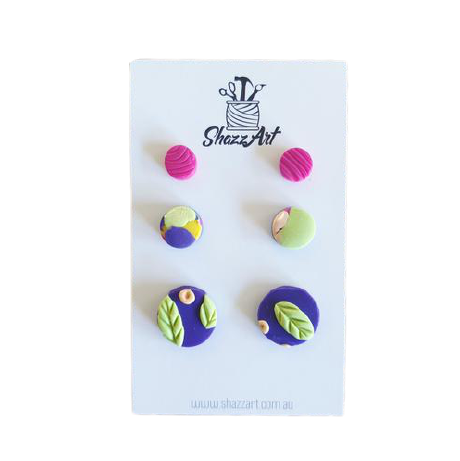 Miniature Stud Pack for multi pierced ears