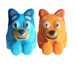 Bath Bomb - Blue & Red Dog Pair