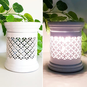 Jacobi White Ceramic Electric Warmer