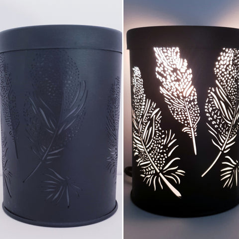 Feather Black Electric Warmer
