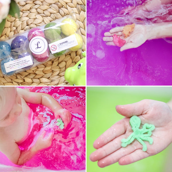 Mini Kids Surprise Bath Bombs - 10 pack (Neon)