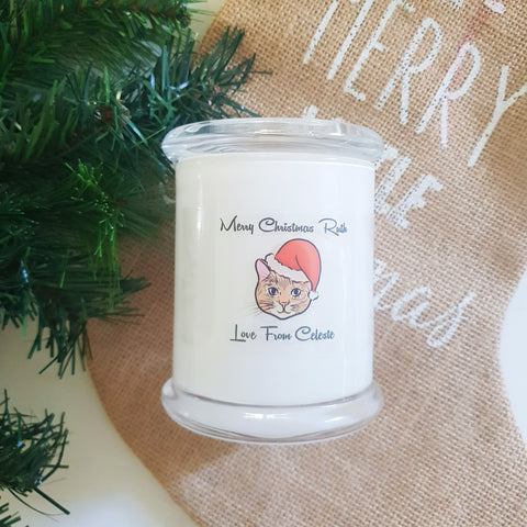 Christmas Personalised Large Soy Candle