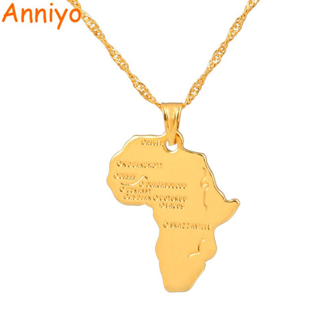 Anniyo 9 Style Africa Map Necklace - Coach K Mart
