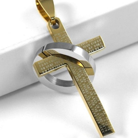 Fashion Stainless Steel Christian Bible Prayer Cross Pendant Necklace - Coach K Mart
