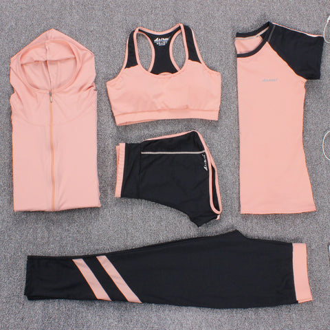 Women Tracksuit Sports 5 Piece Set - Coach K Mart