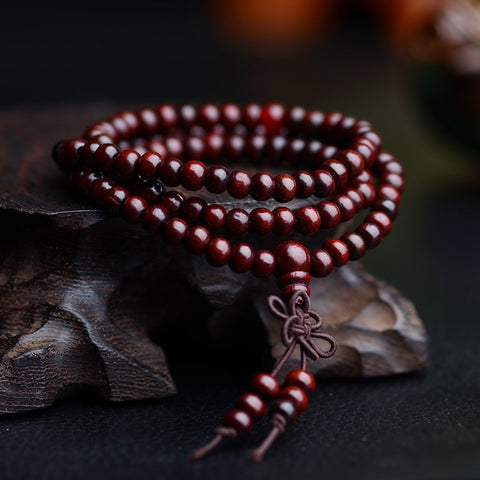 Natural Sandalwood Buddhist Buddha Wood Prayer Bead Bracelets - Coach K Mart