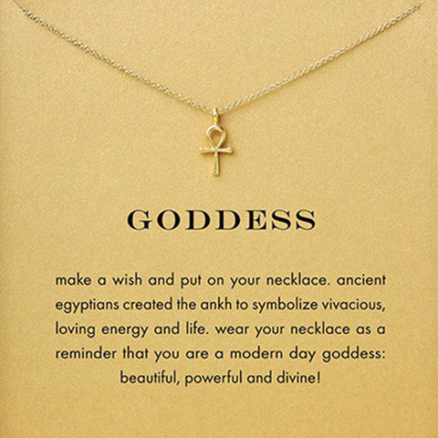 Sparkling Goddess Ankh Cross Necklaces - Coach K Mart