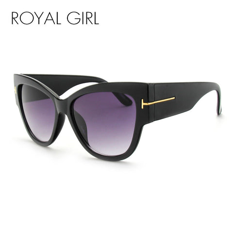 ROYAL GIRL Luxury Brand Designer Women Sunglasses Oversize Acetate Cat Eye Sun Glasses Sexy Shades ss649 - Coach K Mart