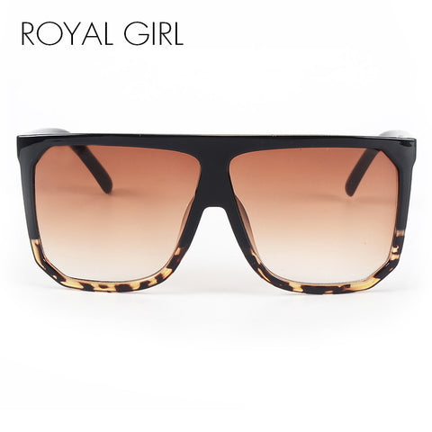 ROYAL GIRL New Brand Designer Fashion Women Sunglasses Oversize Female Flat Top Vintage Sun Glasses Eyewear Oculos de sol ss568 - Coach K Mart