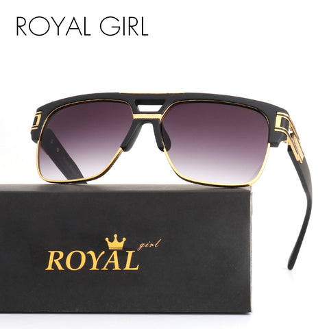 ROYAL GIRL TOP Quality Luxury Men Brand Sunglasses Vintage Oversize Square Sun Glasses Women Clear Glasses ss465 - Coach K Mart