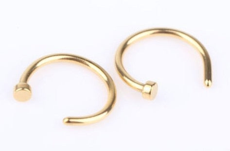 Stainless Steel Nose Open Hoop Ring - Coach K Mart