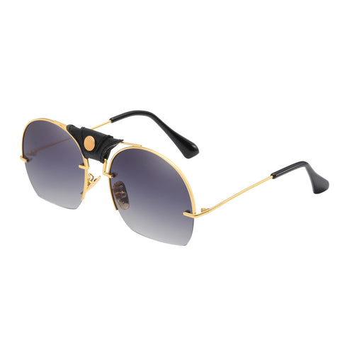 Fashion Metal Frame Integrated UV SunGlasses - Coach K Mart