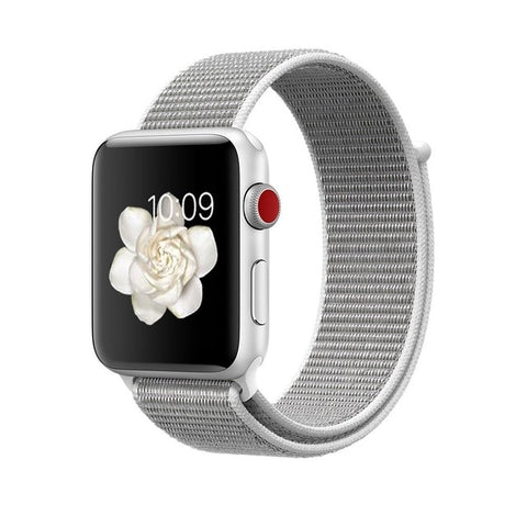 Apple Watch Nike+ - GPS + Cellular - 42mm - Silver Aluminum Case with Bright Crimson/Black Sport Loop - Coach K Mart