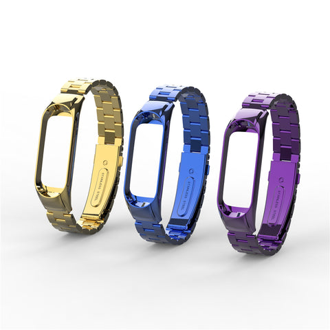 Wrist Strap Metal For Xiaomi Mi Band 3 Bracelet Strap Miband 2 Screwless Stainless Steel Wristbands Miband 3 Straps - Coach K Mart