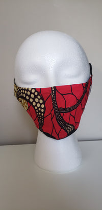 African Print Reversible Nosewire Face-mask