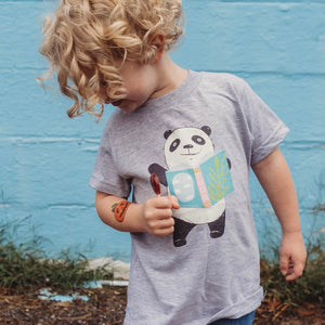 Panda - Book - Kids T-shirt