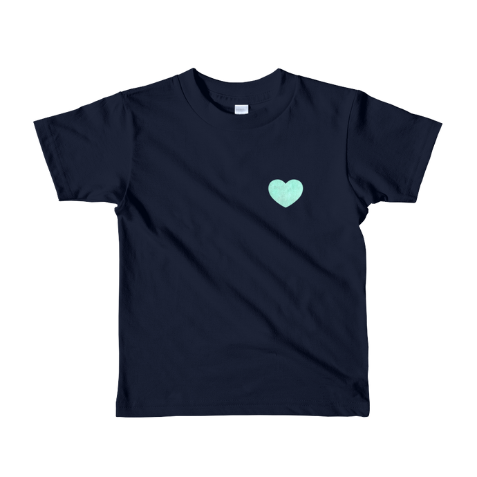 Love - Turquoise - Kids T-shirt