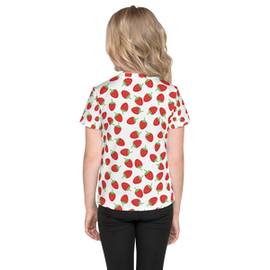 Strawberries All Over - Kids T-shirt