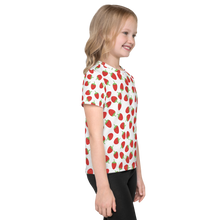 Load image into Gallery viewer, Strawberries All Over - Kids T-shirt