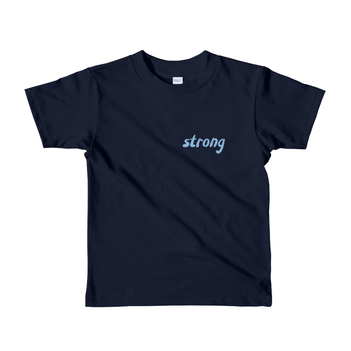 Strong - Blue - Kids T-shirt