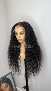 "UNIT 1: 26"" Brazilian Loose Wave, 5x5  Transparent Closure Unit"