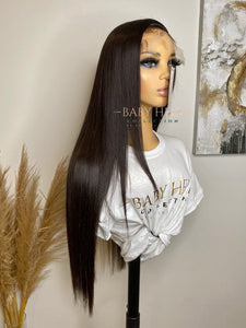 "UNIT 2: 24"" Brazilian Straight 6x6 Transparent Closure Unit"