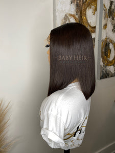 "UNIT 5: 12"" Brazilian Straight, 5x5 Transparent Closure Unit"