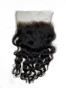 RAW Southeast Asian Natural Wavy Closure