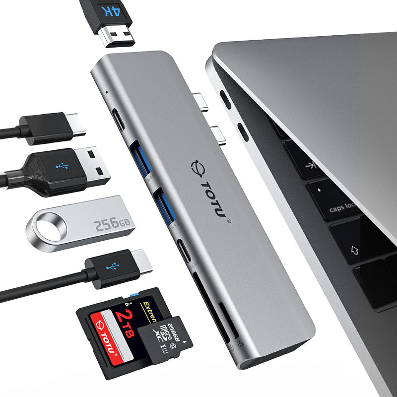 TOTU 7-in-2 USB C Hub