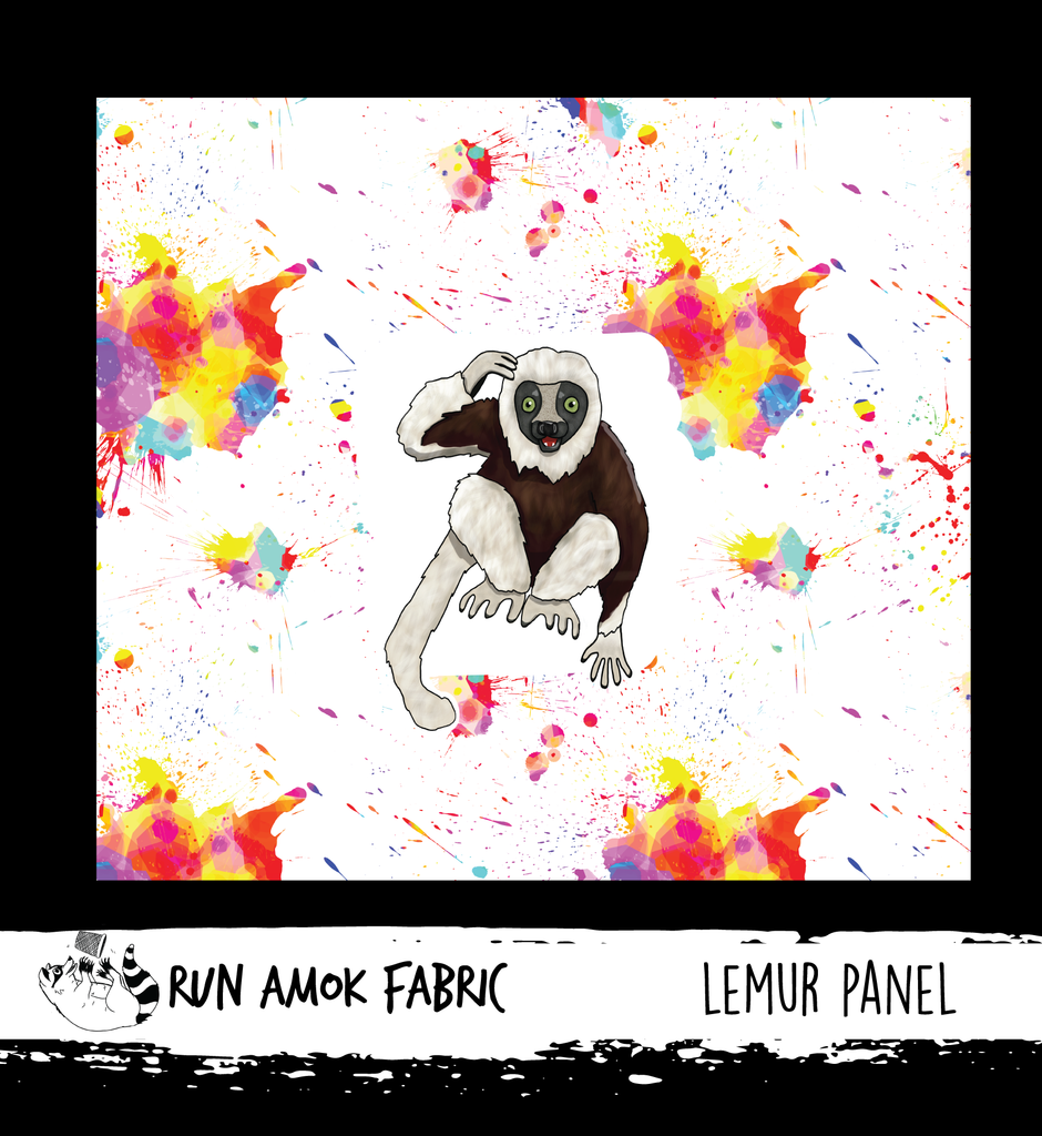 Lemur Panel - Cotton Lycra