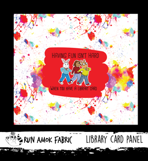Library Card Panel - Cotton Lycra